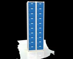 Skříň s boxy - dvouplášťové dveře A2M 30 2 10 O