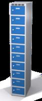 Šatní skříňka s boxy Aldop - dvouplášťové dveře, 10 boxů (1 oddělení)