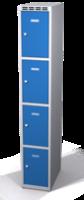Šatní skříňka s boxy Aldop - dvouplášťové dveře, 4 boxy (1 oddělení)
