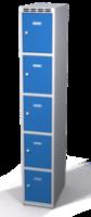 Šatní skříňka s boxy Aldop - dvouplášťové dveře, 5 boxů (1 oddělení)