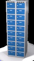 Šatní skříňka s boxy Aldop - dvouplášťové dveře, 20 boxů (2 oddělení)