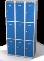 Šatní skříňka s boxy Aldop - dvouplášťové dveře, 9 boxů (3 oddělení)
