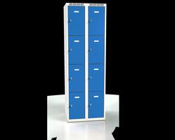 Skříň s boxy - jednoplášťové dveře L2M 30 2 4 O