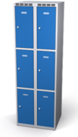 Šatní skříňka s boxy Alsin - jednoplášťové dveře, 6 boxů (2 oddělení)
