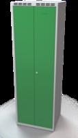 Šatní skříňka - dvouplášťové dveře, šířka oddělení 350 mm, společné uzavírání