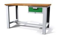 Dílenský stůl - šířka 1500 mm, nastavitekná výška, 1 kontejner: 1 zásuvka