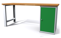 Dílenský stůl - šířka 2000 mm, 1 kontejner: 1 dvířka