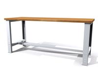 Základní pracovní stůl - šířka 2000 mm - výškově stavitelné nohy