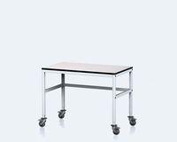 Dílenský stůl s nastavitelnou výškou 745 - 825 mm, šířka 1200 mm, pojízdný