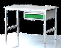 Dílenský stůl - stavitelná výška, šířka 1200 mm, kontejner 1 zásuvka