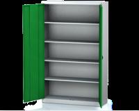 Kovová spisová skříň - jednoplášťové vyztužené dveře