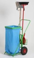 Vozík na odpadkové pytle - ocel MM700155