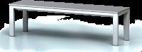Základní šatní lavice - šířka 1500 mm