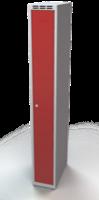 Odolná šatní skříňka Aldur 1  - dvouplášťové dveře, šířka / počet oddělení: 250 mm / 1