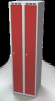 Odolná šatní skříňka Aldur 1 - dvouplášťové dveře, šířka / počet oddělení: 250 mm / 2