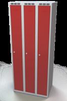 Odolná šatní skříňka Aldur 1 - dvouplášťové dveře, šířka / počet oddělení: 250 mm / 3