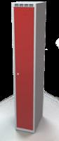 Odolná šatní skříňka Aldur 1 - dvouplášťové dveře, šířka / počet oddělení: 300 mm / 1