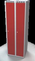 Odolná šatní skříňka Aldur 1 - dvouplášťové dveře, šířka / počet oddělení: 300 mm / 2