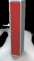 Odolná šatní skříňka Aldur 1 - dvouplášťové dveře, šířka / počet oddělení: 350 mm / 1