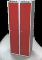 Odolná šatní skříňka Aldur 1 - dvouplášťové dveře, šířka / počet oddělení: 350 mm / 2