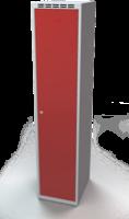 Odolná šatní skříňka Aldur 1 - dvouplášťové dveře, šířka / počet oddělení: 400 mm / 1
