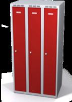 Zesílené šatní skříňky snížené s dvouplášťovými dveřmi R3M 25 3 1 S V15