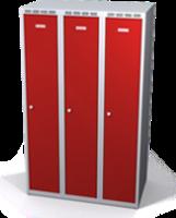 Zesílené šatní skříňky snížené s dvouplášťovými dveřmi R3M 30 3 1 S V15