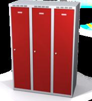Zesílené šatní skříňky snížené s dvouplášťovými dveřmi R3M 40 3 1 S V15