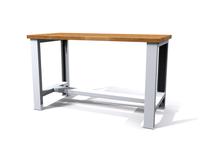 Základní dílenský stůl - šířka 1500 mm, pevné nohy