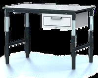 Systémový pracovní stůl - nastavitelná výška 681 - 1037 mm