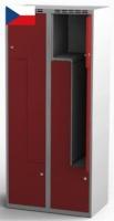 Šatní skříňky - dvouplášťové dveře tvaru Z, kovové AM 40 2 Z S AK