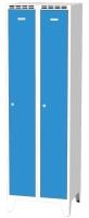 Kovové šatní skříňky na nohách - dvouplášťové dveře AN 30 2 1 S
