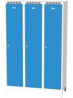 Kovové šatní skříňky na nohách - dvouplášťové dveře AN 40 3 1 S