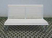 Parková lavička - ocel-dřevo BERLIN