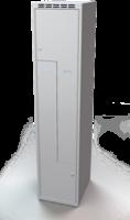 Šatní skříňky - jednoplášťové dveře tvaru Z, kovové L1M 40 1 Z S