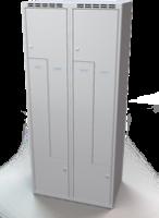 Šatní skříňky - jednoplášťové dveře tvaru Z, kovové L1M 40 2 Z S