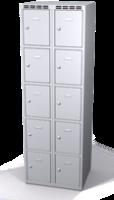 Šatní skříňka s boxy Alsin - jednoplášťové dveře, 10 boxů (2 oddělení)