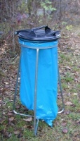 Stojan na odpadkové pytle - ocel-plast MM700095