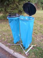 Stojan na odpadkové pytle - ocel-plast MM700096