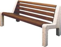 Parková lavička - beton-dřevo MM800042