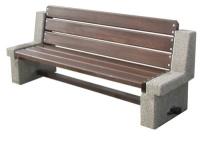 Parková lavička - beton-dřevo MM800043