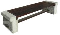 Parková lavička - beton-dřevo MM800044