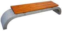 Parková lavička - beton-dřevo MM800048