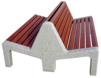 Parková lavička - beton-dřevo MM800051