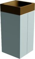 Odpadkový koš - beton-ocel MM800055