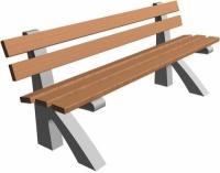 Parková lavička - beton-dřevo MM800081
