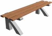Parková lavička - beton-dřevo MM800085
