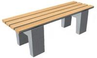 Parková lavička - beton-dřevo MM800086
