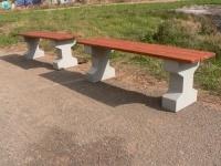 Parková lavička - beton-dřevo MM800208