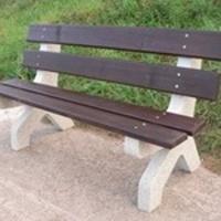 Parková lavička - beton-dřevo MM800209